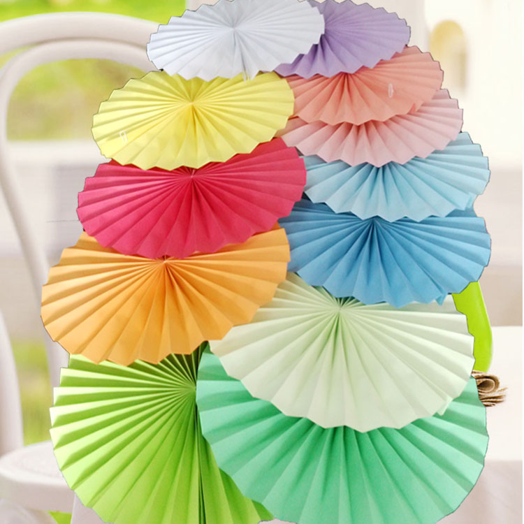 large paper fan flower stereo paper flower origami flower fan wedding supplies stage background arrangement wedding party decorations