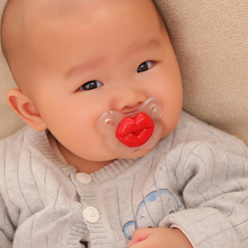 U.S. Imports Cute Lips Funny Baby Pacing Nipple Baby Sleeping Type 0-6-18 Months