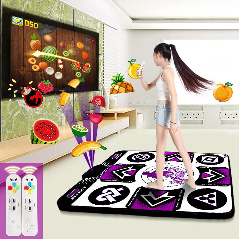 康丽无线发光跳舞毯单人家用电视接口电脑两用加厚减肥体感跳舞机