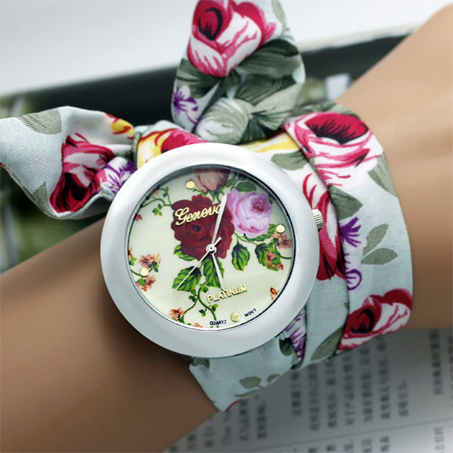 Chinese style new design women's clothing cloth watch fashion women's watch high quality fabric watch student watch