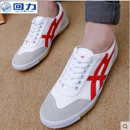 Подлинный вернуть силу осенью и зимой воздухопроницаемый настольный теннис движение мужской и женщины холст обучение пригодный для носки обувной сухожилие обувной 27A