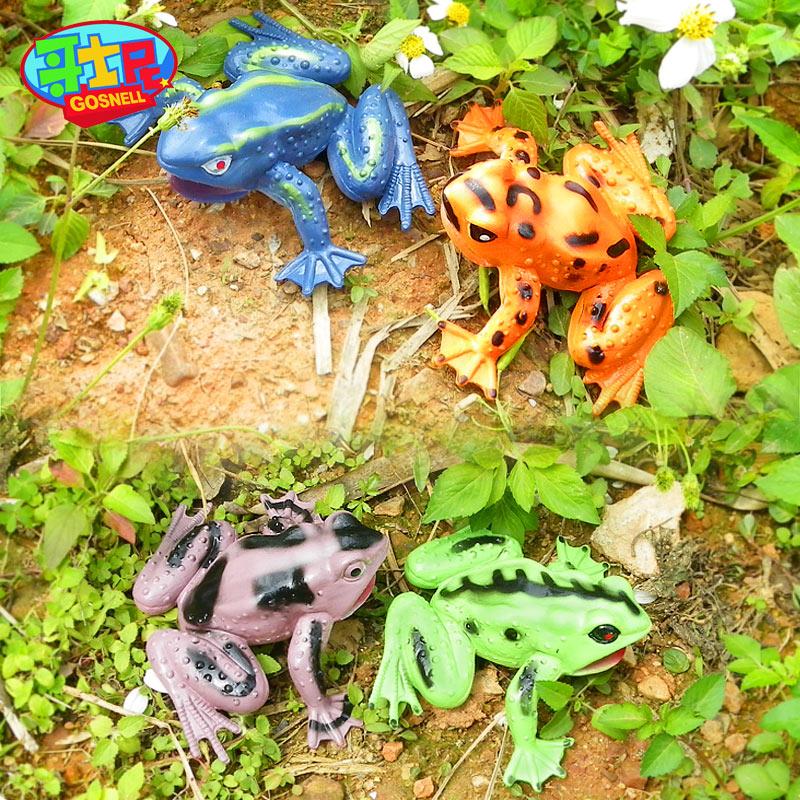 哥士尼绿皮青蛙玩具 塑料跳跳蛙 儿童益智仿真动物7080后怀旧玩具_领取2元天猫超市优惠券