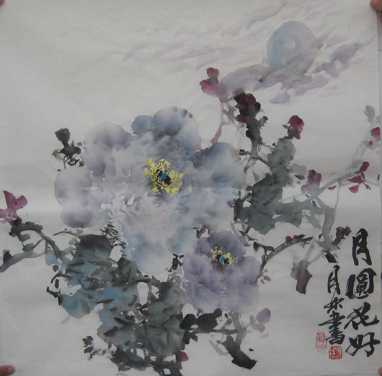 【墨锦轩】精品国画大写意花鸟画100%手绘四尺斗方牡丹 5100114