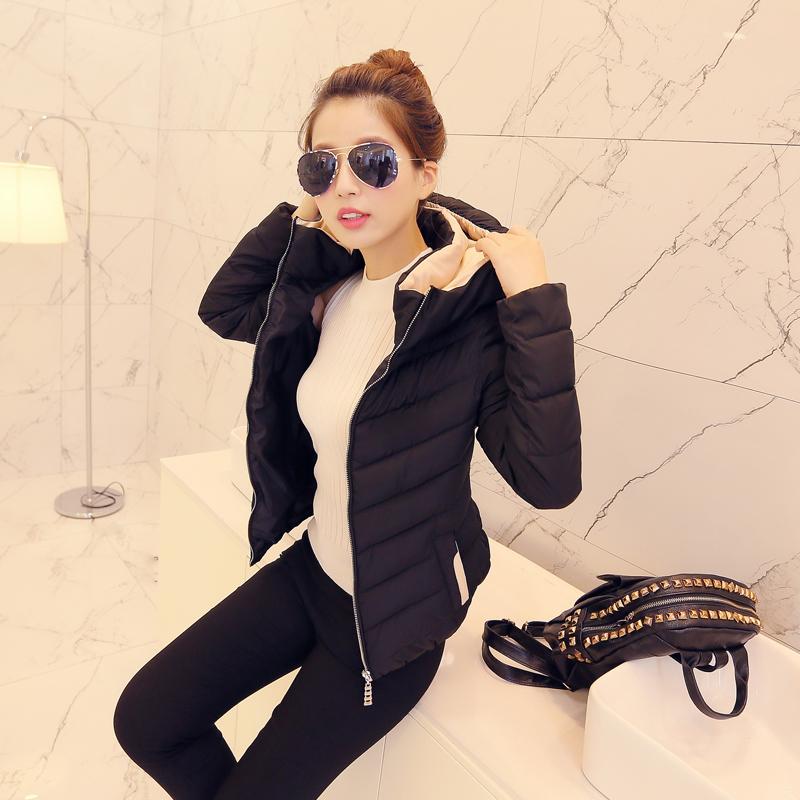 2015秋冬季韩版新款女式修身超轻薄羽绒服短款立领大码女装外套潮