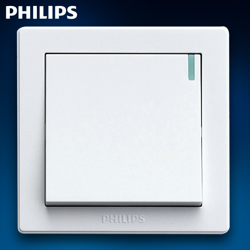 Philips Switch Socket Panel Q6 K12Y An Open Double Control With Fluorescent Single