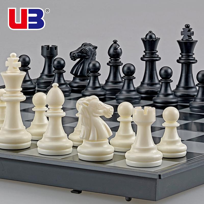 UB друг государственный шахматы среда магнитный черно-белое золото и серебро кусок сложить шахматная доска установите поезд конкуренция использование шахматы