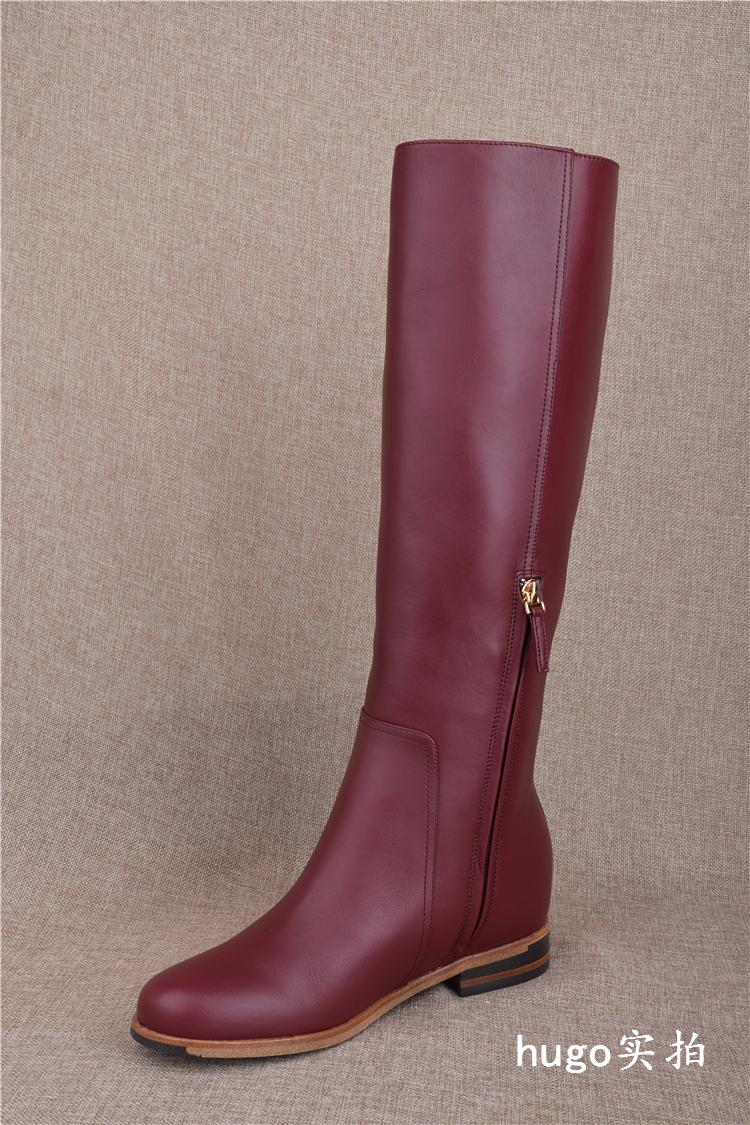 优 雅氏 簇 磨砂翻毛软牛皮高跟长筒过膝靴侧拉链长靴子 5FR5