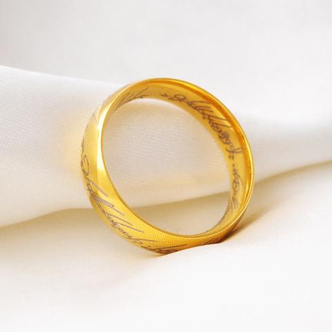 泰爱你 魔戒指环戒指男宽钛钢指环潮人个性霸气配饰免费刻字