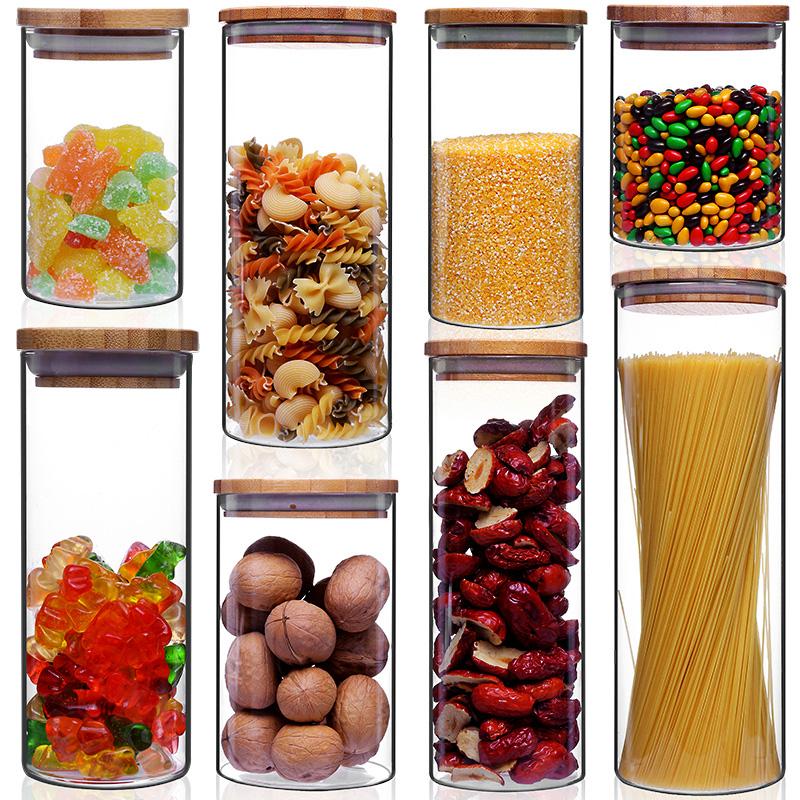 带盖茶叶罐玻璃密封罐瓶子厨房储物罐五谷杂粮奶粉食品收纳储藏罐