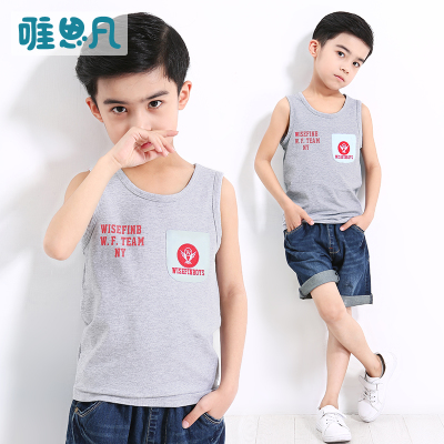 Only think of children's clothing boys summer 2017 new blouse children's summer vest in large children sleeveless T-shirt