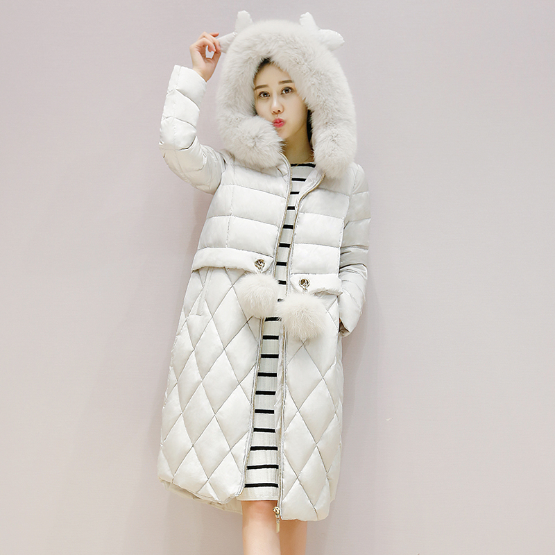 韩版冬季新款羽绒服女短款修身显瘦加厚保暖白鸭绒收腰中青年外套