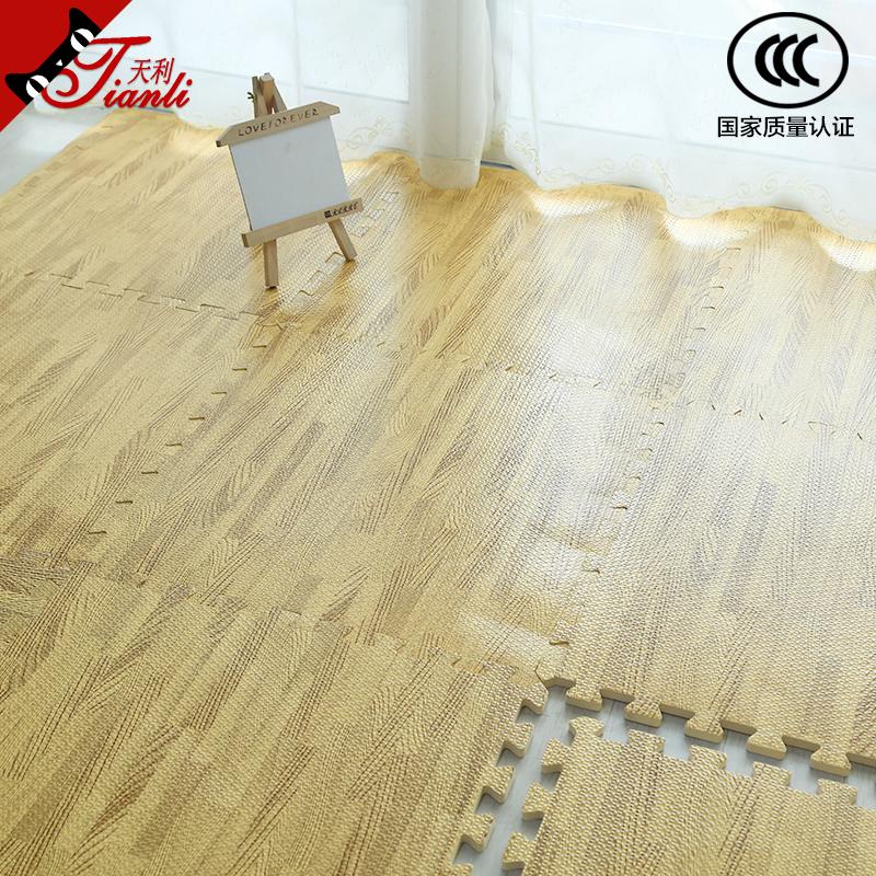tianli wood grain foam mats home faux wood floor mats child puzzle mats bedroom stitching tatami - Puzzle Wood Flooring