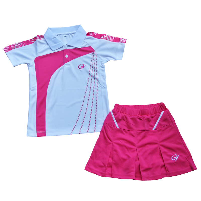 Authentic children\u0027s clothing badminton clothing table tennis tennis clothing  sportswear girls rose red skirt pants suit