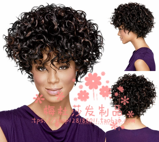 Foreign trade wig Europe and the United States fashion wig female Big Bang  short curly hair c810f3cba012