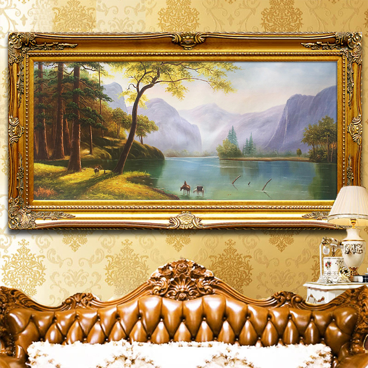 Pure Hand Painted European Style Landscape Painting The Living Room Cornucopia Feng Shui Bedroom Sofa Wall Hanging Decoration