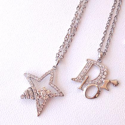 【星语长链】满百包邮项链长字母毛衣链五角星银饰水钻吊坠