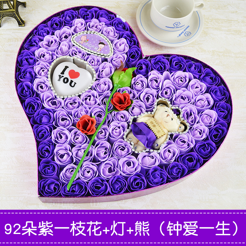 Birthday Gift Girl New Year Valentines Day Send Girlfriend Creative Romantic Practical Rose Soap Flower