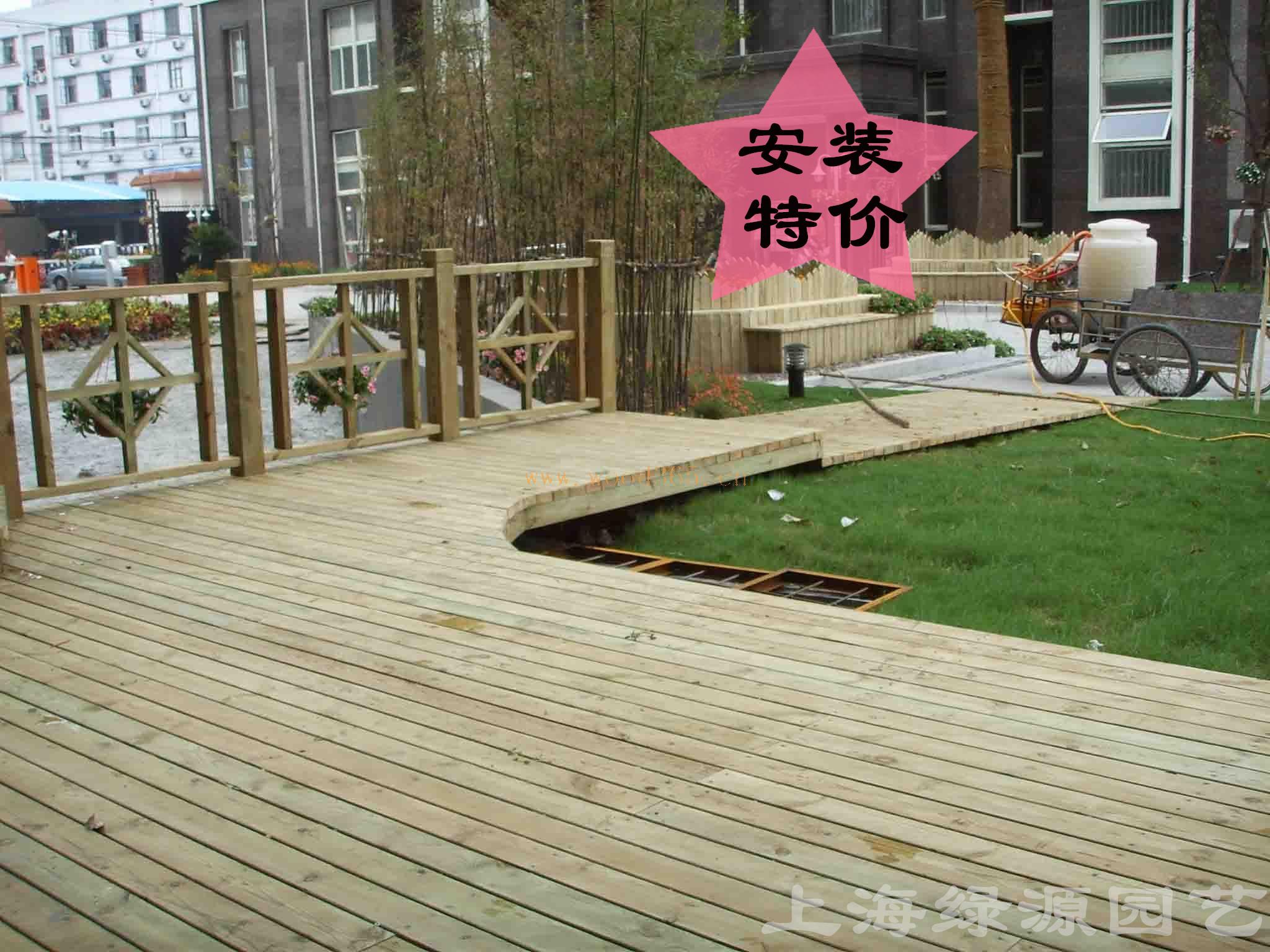 Древесина с защитной пропиткой Антикоррозионные деревянный настил Шанхай пакет установки напольный терраса пол вайн твердосплавный инструмент этаже