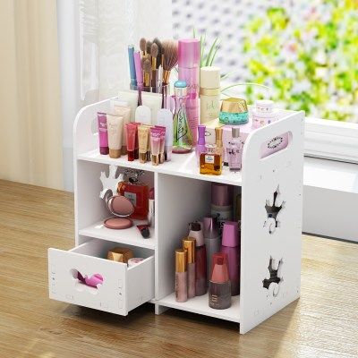 Household desktop cosmetic storage frame skin care product storage box drawer dressing table finishing plastic cosmetic box