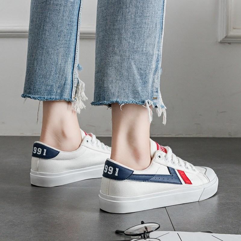 2018春季新款帆布鞋女学生韩版原宿ulzzang夏街拍小白鞋百搭板鞋