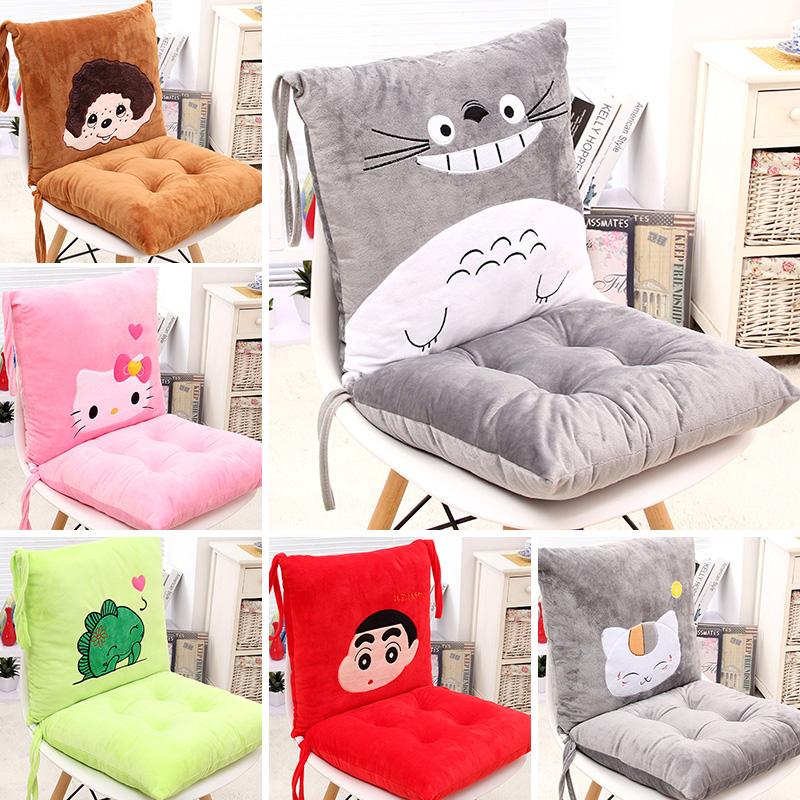 冬季毛绒餐椅垫学生加厚保暖坐垫办公室护腰坐垫靠垫一体电脑椅垫
