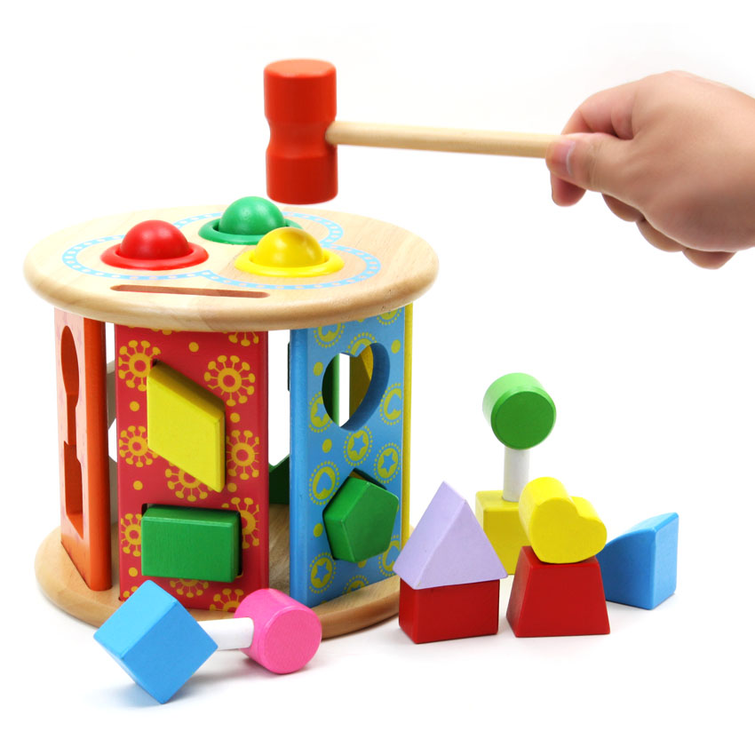 Young Music Shape Beat Taiwan Childrens Puzzle Wooden Toys Baby Toys 1 3 Years Old Beat Toys