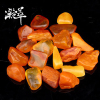 Condensed amber beeswax stone pendant pendant hand raw material ore wax amber original stone wool ring chicken yellow