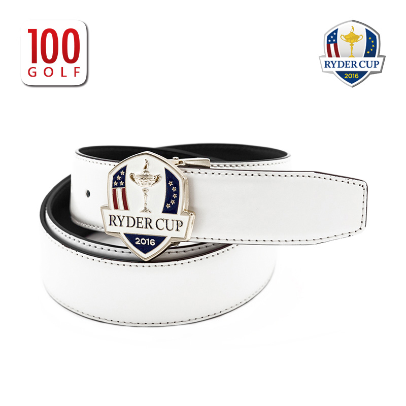b884ba857a9 USD 260.27  RYDERCUP Ryder Cup golf belt male cowhide white golf ...