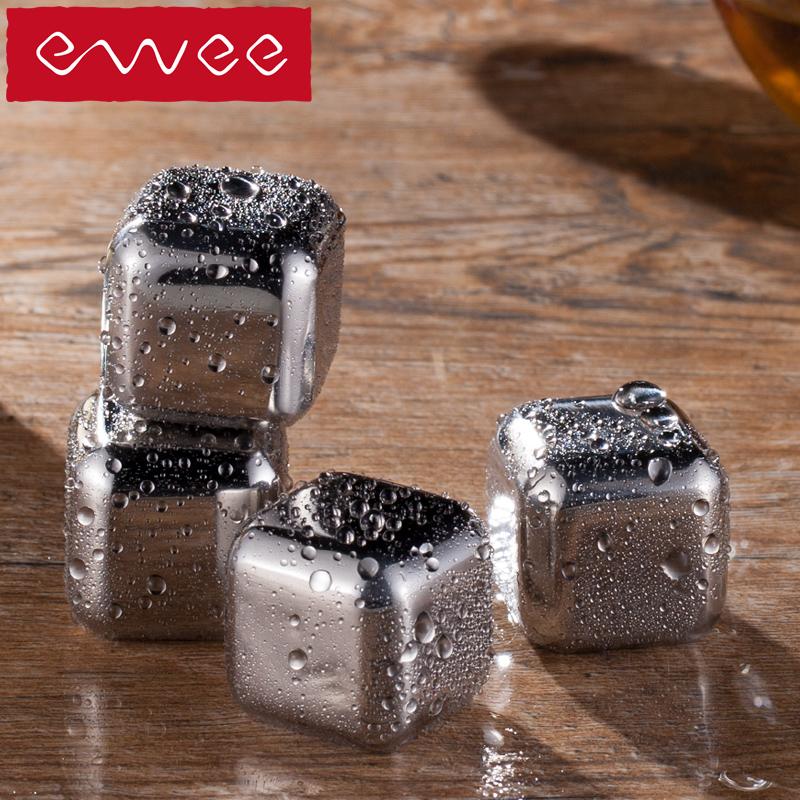 Đức ewee 304 thép không gỉ nhanh chóng đông lạnh ice whiskey ice cubes rượu vang sáng tạo tiện ích thiết bị thanh