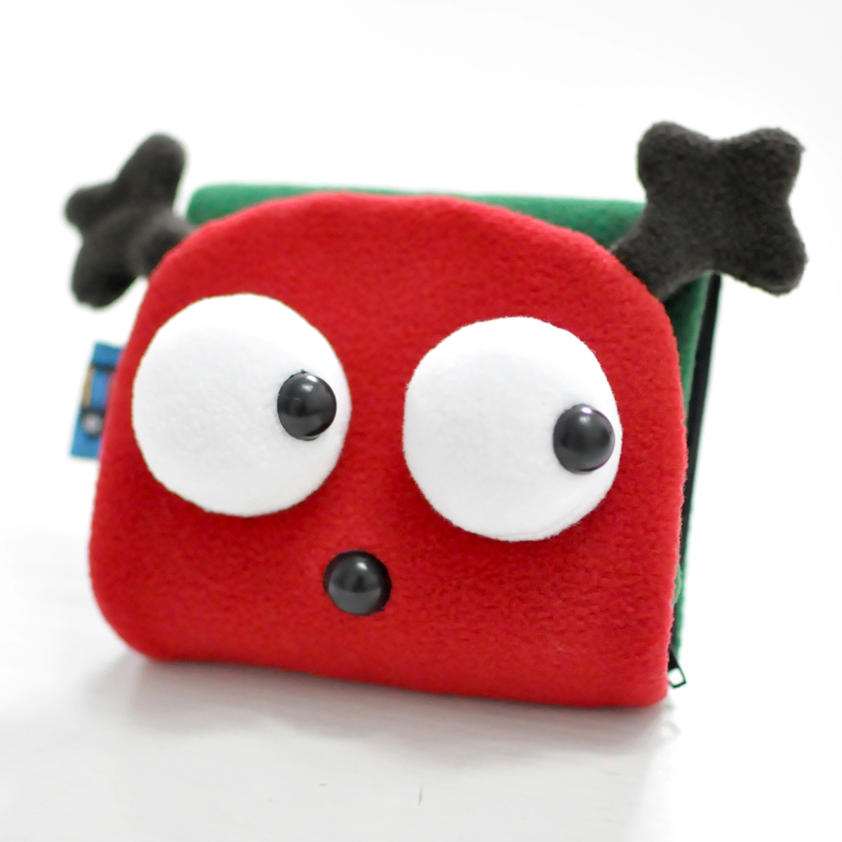 PLUMO cute short paragraph Meng wallet cartoon fabric plush Japan and South Korea multi-card bit creative couple money meters red