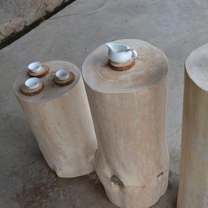 Trụ gỗ, trụ gỗ, gỗ đặc, trụ, gốc cây, gốc cây, khay trà, chân đế, chạm khắc gốc, bàn cà phê, phân gỗ, trụ trà - Các món ăn khao khát gốc