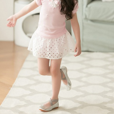 South Korean children's wear new summer girls high-end hollow skirt pants children girls Korean temperament thin skirt pants