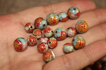 Authentic old goods cloisonne beads DIY Enamel accessories beads