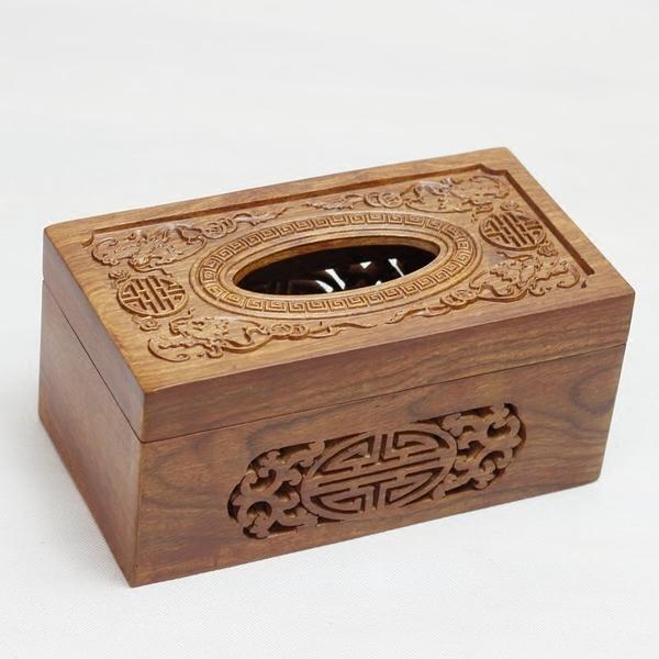 包邮花梨木纸巾盒中式抽纸巾盒红木质纸巾筒简约实木抽纸盒镂空