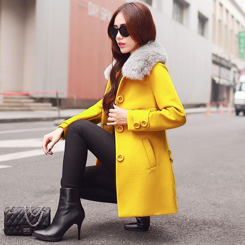 2015韩版时尚棉服冬装新款中长款连帽棉袄女装韩版修身显瘦棉衣潮