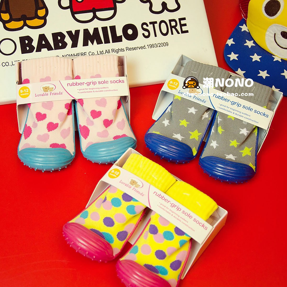 Usd 10 61 New Baby Rubber Bottom Non Slip Floor Socks Cartoon Cute