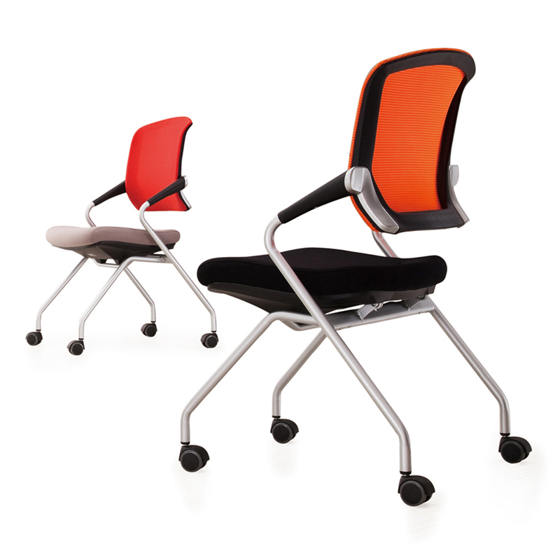 Folding Conference Chairs Minimalist Mesh Computer Chair With Armrests  Office Chair Staff Chairs Training Chair Meeting