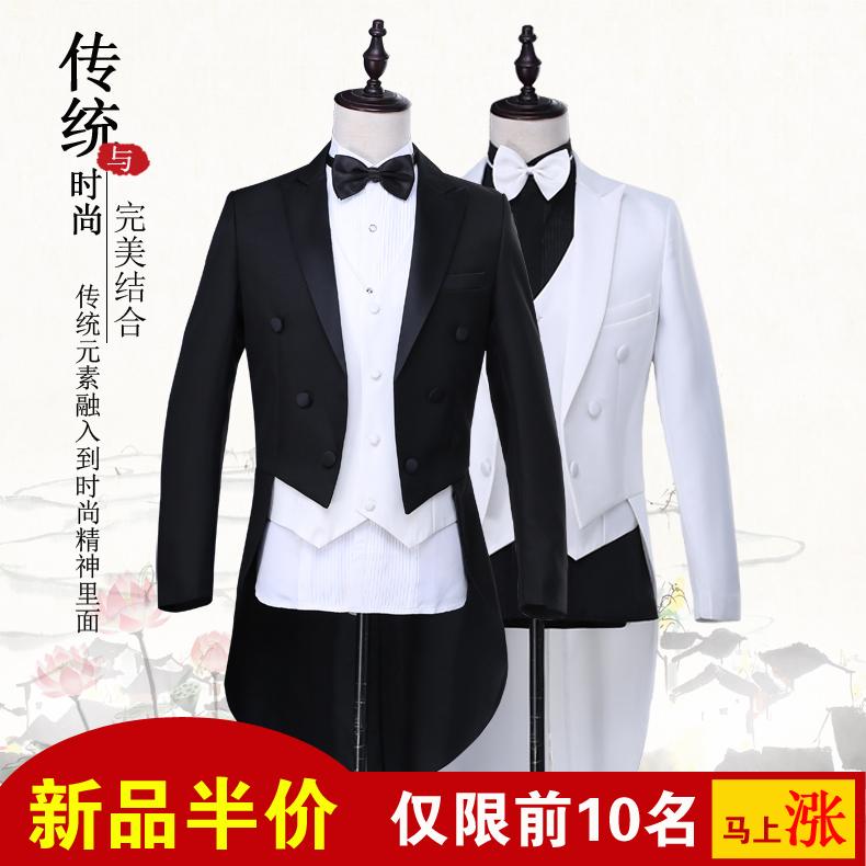 Tuxedo nam slim dress phù hợp với phù hợp với nam giới của điệp khúc phù hợp với giai đoạn trang phục ma thuật nam tuxedo