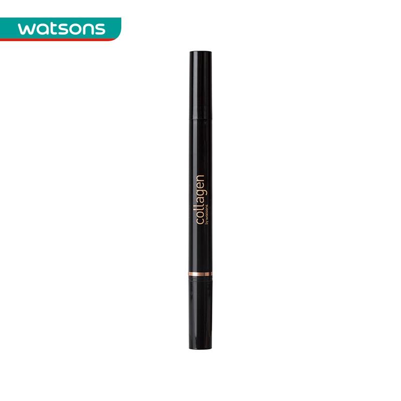 Watsons/屈臣氏骨胶原持久两用眼线液笔(黑色01)1.2克