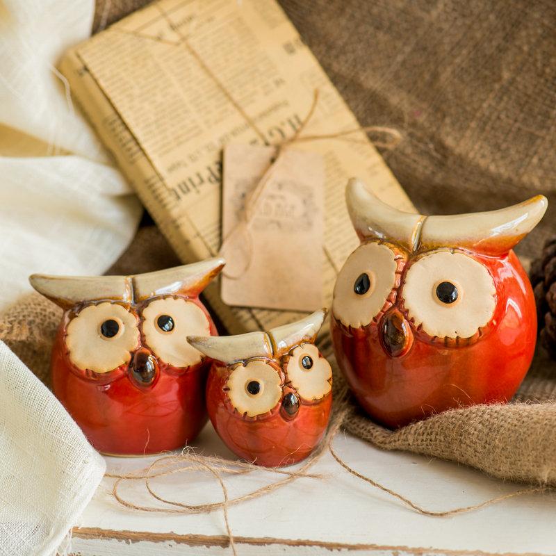 温馨一家三口新婚礼物 家居装饰品大象摆件欧式陶瓷客厅玄关摆设