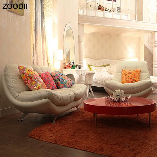 裝典美家 韓式簡約風格皮沙發小戶型客廳皮藝沙發組合家具P916