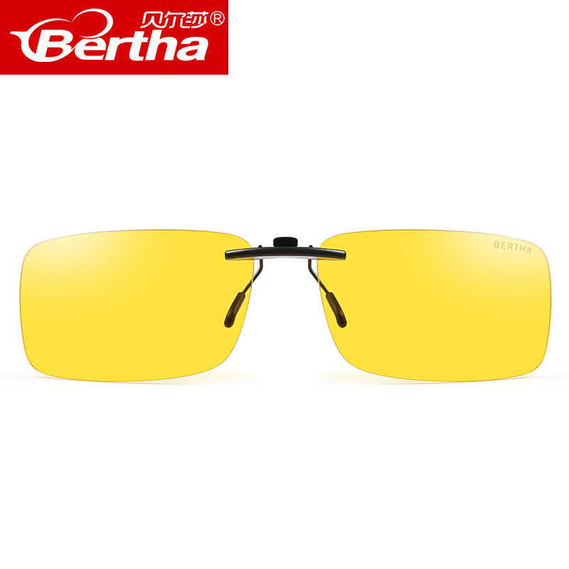 340f0ddb71 Men driving at night clip anti-high beam glare myopia polarized glasses  male driver driving