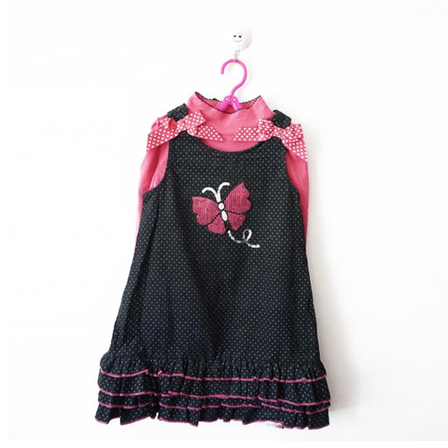 外贸原单尾货大童秋冬装 女童套装纯棉 两件套 中大童装