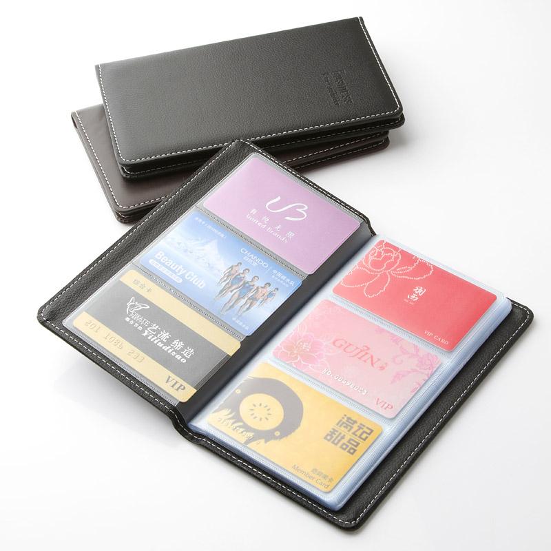 证件名片夹小卡册卡包车票大容量收藏v证件收集装放本子的男士装会员卡得力包明片本子卡片便携式家用随身信用