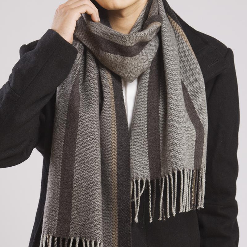 韩版围巾女秋冬季超长两用大披肩加厚保暖格子毛线男女士围脖围巾