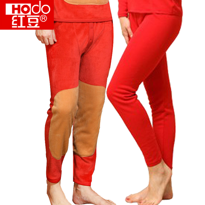 7d7a8c24efe Red beans men and women single article plus velvet thick red life married  red warm knee warm pants