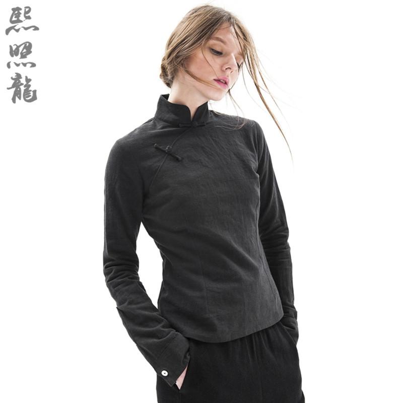 正念禅修服打坐服中国风亚麻瑜伽服汉服女茶人服琴道服居士服套装