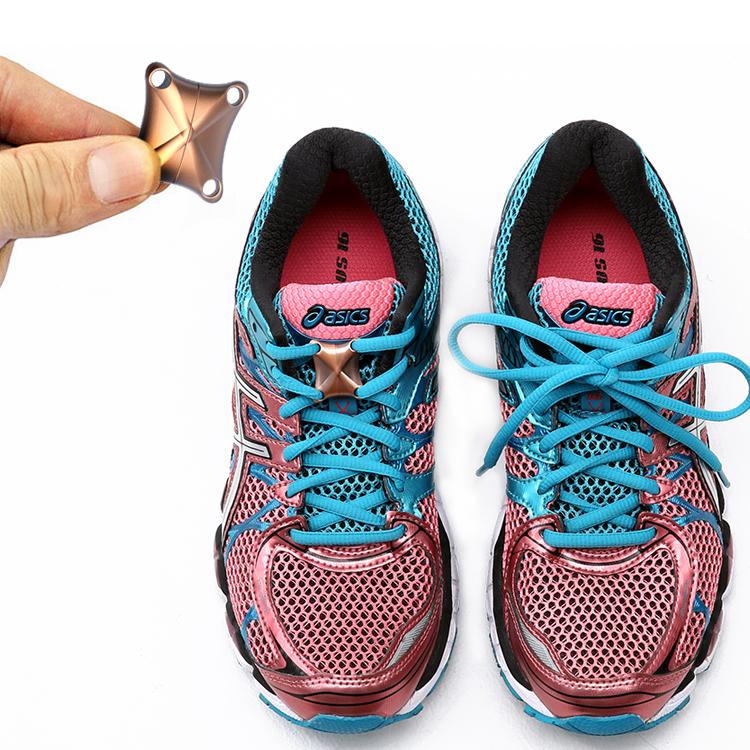 Обувная застежка Контейнер оригинальный магнитный сплав пряжка шнурки пряжка Повседневная обувь кроссовки быстрая бесплатная завязывать шнурки