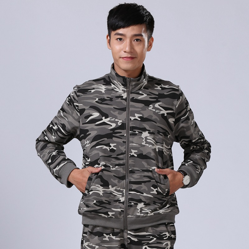 04a14deaebeaa Men's outdoor couple camouflage sports jacket sweater jacket men's army camouflage  jacket women's spring and autumn