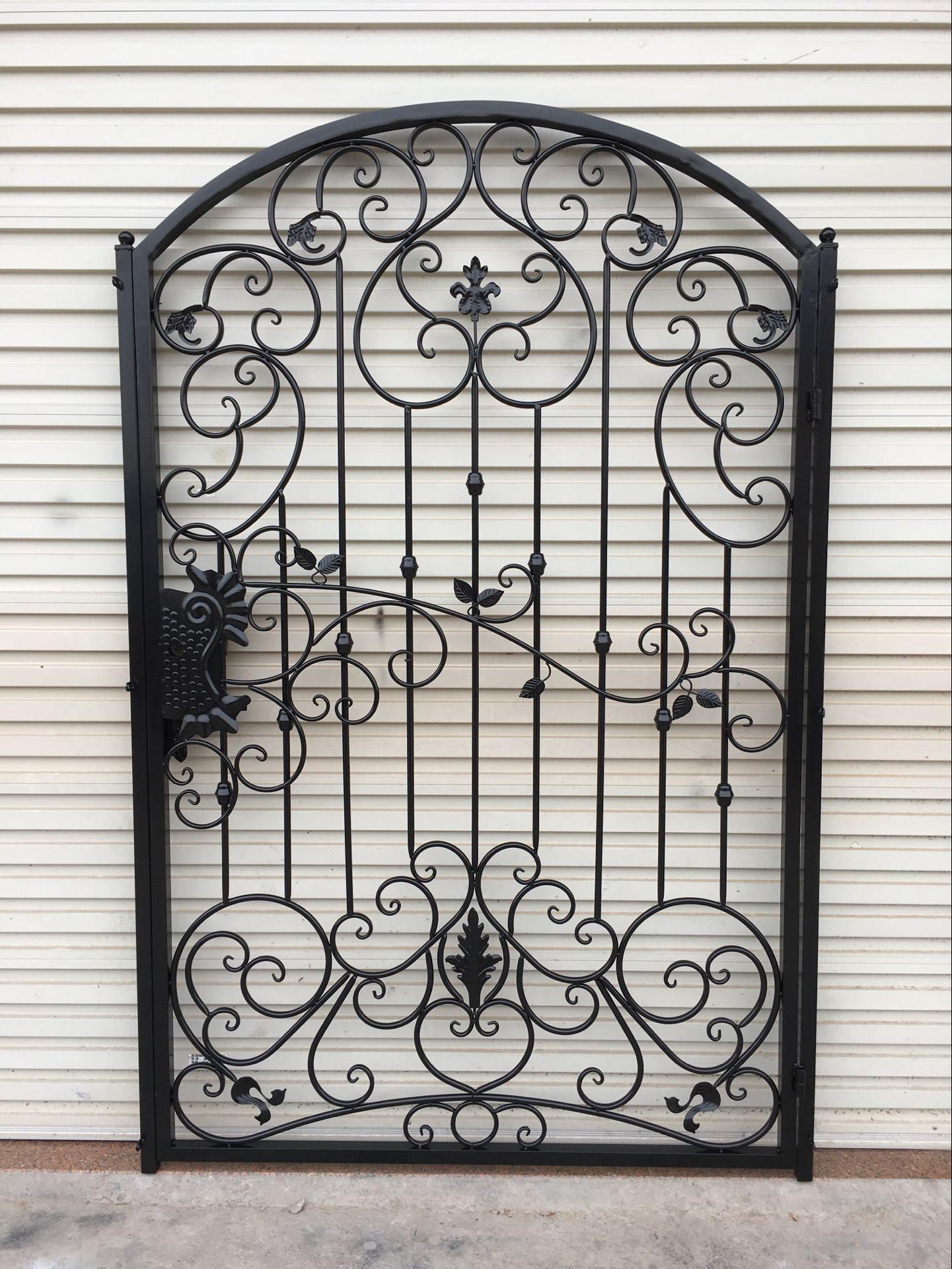 Custom Made European Wrought Iron Gate Outdoor Patio Door Villa Door Garden  Entrance Door Cell